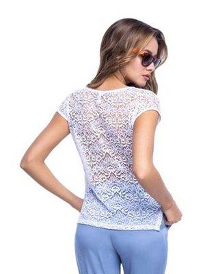Блуза біла у мереживо | 3109231