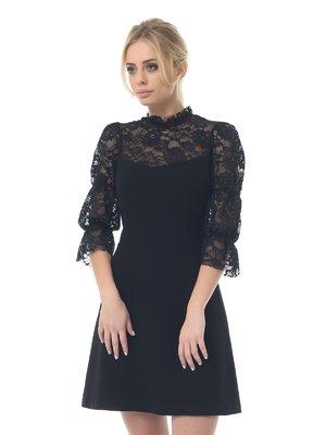 Платье черное ажурное | 3106569