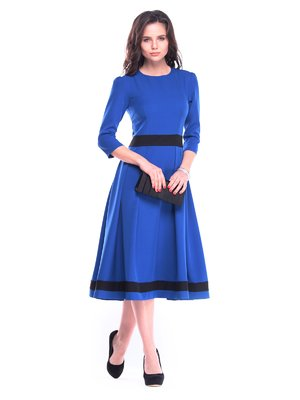 Сукня кольору електрик з чорним | 3106349