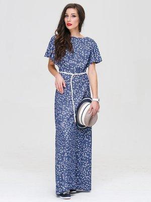 Платье синее в принт | 3118832