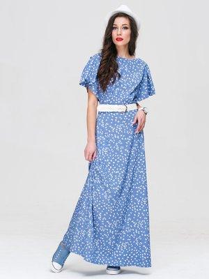 Платье голубое в принт   3118833