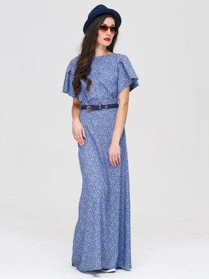 Платье голубое в принт | 3118836