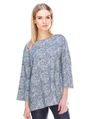 Блуза синяя | 3075504