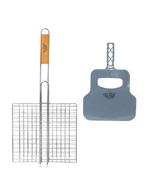Решетка гриль с веером в подарок (55(+3)х27х24 см) | 3120409