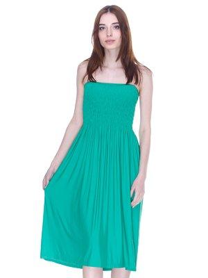 Юбка-сарафан зеленая   3075553