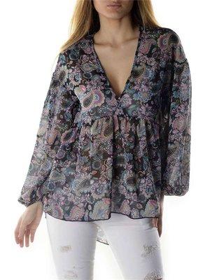 Блуза квіткового забарвлення | 3135842