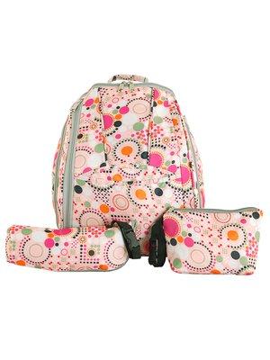 Набір для мам: рюкзак, косметичка та термочохол для пляшечки | 3137352