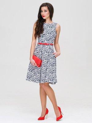 Платье белое в принт | 3143611