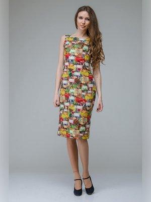 Платье разноцветное в принт | 3143300