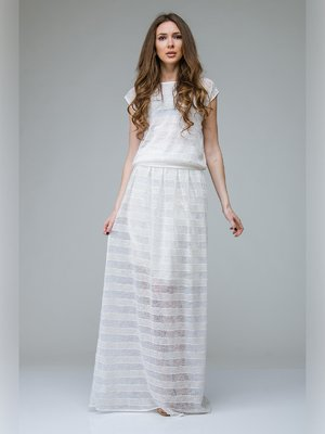 Блуза молочного цвета в полоску | 3143309