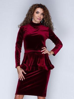 Платье цвета марсала | 3086338