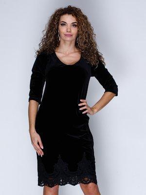 Платье бархатное черное | 3130128