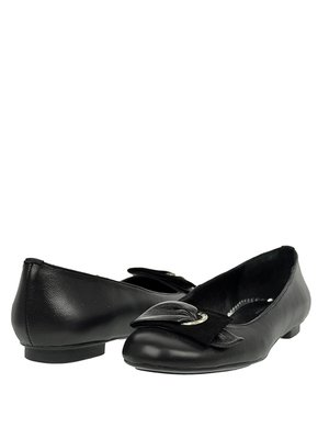 Балетки чорні  зі стилізованим бантиком | 319196