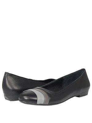 Туфлі чорні з двоколірним оздобленням | 289559
