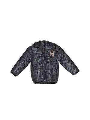 Куртка серо-черная в клетку   3102831