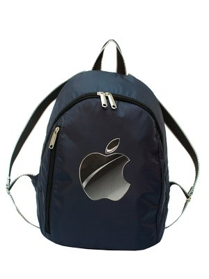 Рюкзак синий с принтом | 2913179