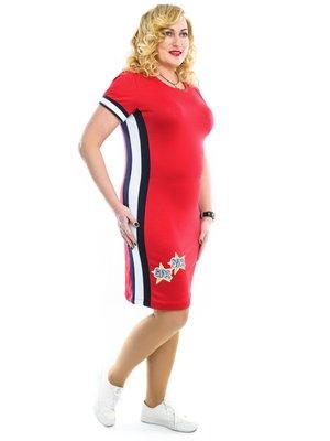 Сукня червона у смужку | 3159028