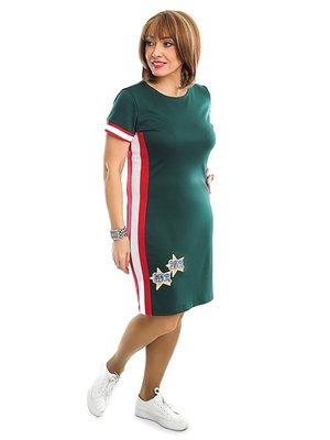 Платье зеленое в полоску | 3159031