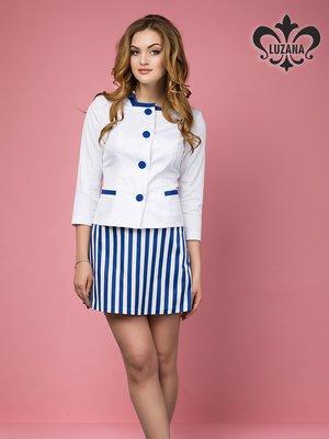Жакет біло-синій | 3165766