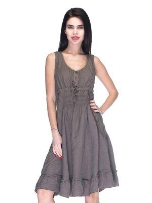 Сукня темно-коричнева | 3131021