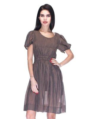Сукня темно-коричнева | 3130993
