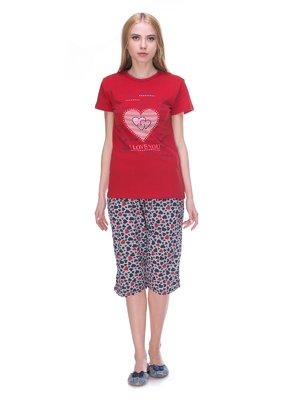 Пижама: футболка и капри | 3130259