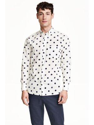 Рубашка белая в горошек | 3103072