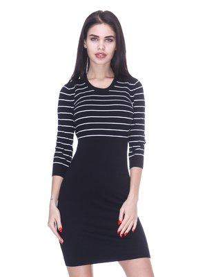 Платье черное с полосками | 3087428