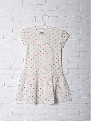 Сукня молочного кольору в горох | 3180157