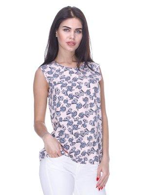 Блуза цвета пудры в принт   3180953