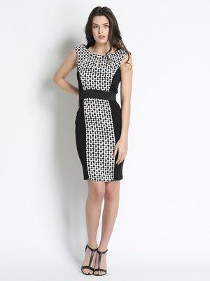 Сукня чорна з квітковим принтом | 3186155
