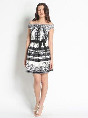 Платье черно-белое с принтом | 3186189