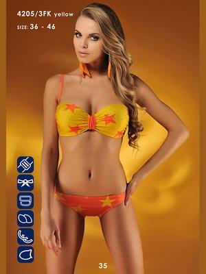 Купальник желто-оранжевый в принт | 3187529