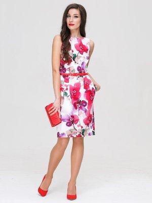 Сукня біла в квітковий принт | 3189210