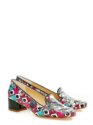 Туфли в разноцветный принт | 3189106