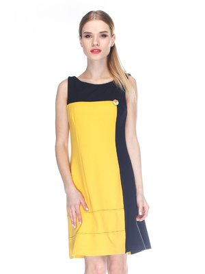 Сукня жовто-чорна | 3138236