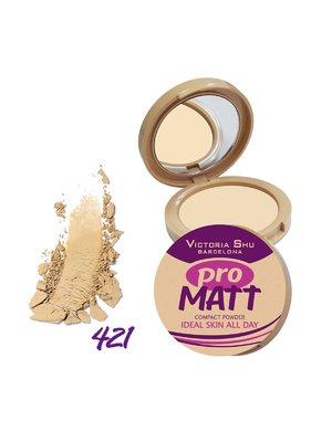 Пудра компактна - №421 Pro Matt (8 г) - Victoria Shu - 3203700