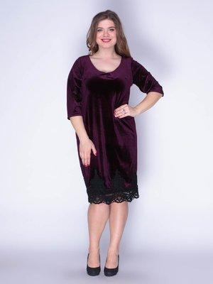 Платье бархатное фиолетовое | 3207621