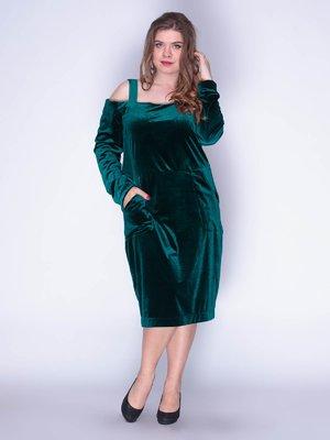 Платье бархатное изумрудное | 3158673