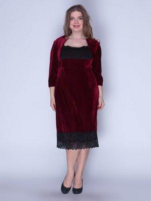 Платье бархатное красное | 3207619