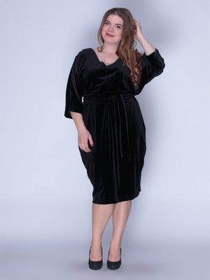 Платье бархатное черное | 3207620