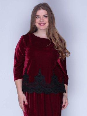 Блуза бархатная красная | 3158713