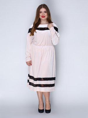 Платье бархатное розовое | 3202219