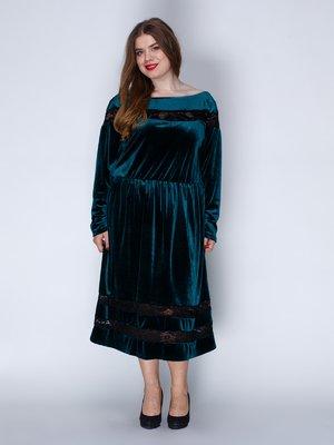 Платье бархатное изумрудное | 3202217