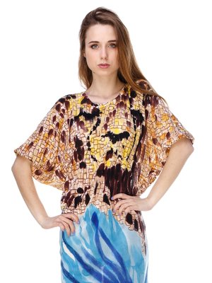 Сукня абстрактного забарвлення | 2434144