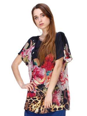 Блуза комбинированной расцветки | 3146047