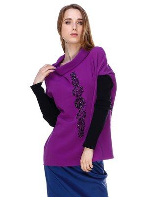 Блуза черно-фиолетовая | 3146135