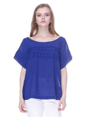 Блуза ярко-синяя | 1592405