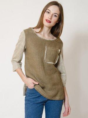 Блуза цвета хаки   3133446