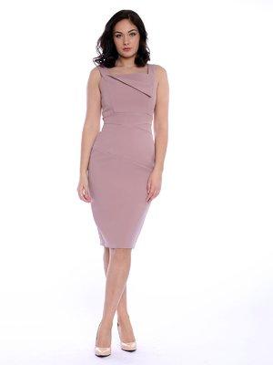 Платье пепельно-розовое | 3229005